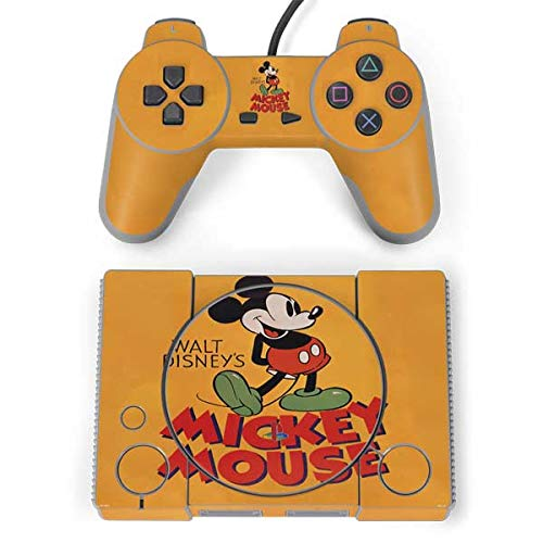 Skinit Walt Disney Mickey Mouse Playstation Classic Bundle Skin - Officially Licensed Disney Gaming Decal - Ultra Thin, Lightweight Vinyl Decal Protection