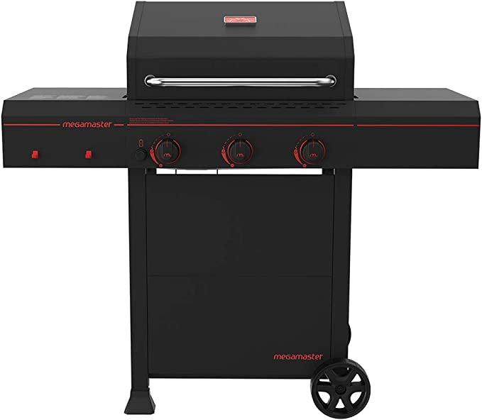 Megamaster 720-0804 Propane Gas Grill, Black