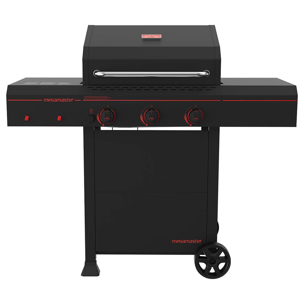 Megamaster 720-0804 Propane Gas Grill, Black