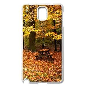{Funny Series} Samsung Galaxy Note 3 Case Romantic Fall, Girl Design Protective Case Okaycosama - White