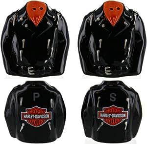 Harley-Davidson Leather Jacket Salt & Pepper Shakers