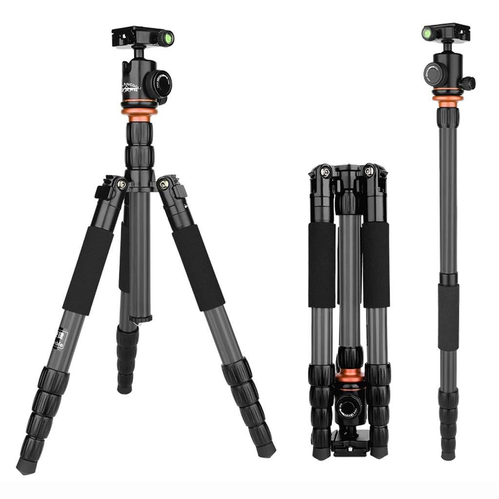 カーボンファイバー一眼レフ三脚プロの写真撮影マイクロシングルカメラブラケットポータブルカメラ携帯電話三脚カメラバラエティブラケット   B07PBBDV4L