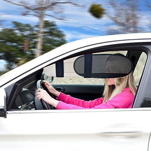 TFY Vehicle Visor Anti-Glare Anti-Dazzle Sunshade Extension Sun Blocker for Cars, Vans and - Sunset Visor Clear