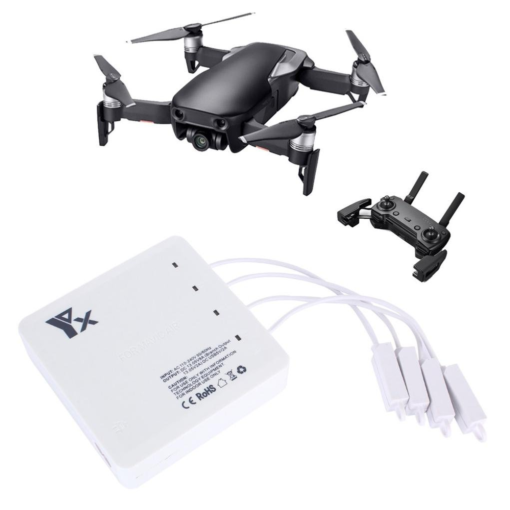 [DJI Mavic Air Accessories] 6 In 1 AIR Battery Remote Charger Hub Parallel Dual USB (White)
