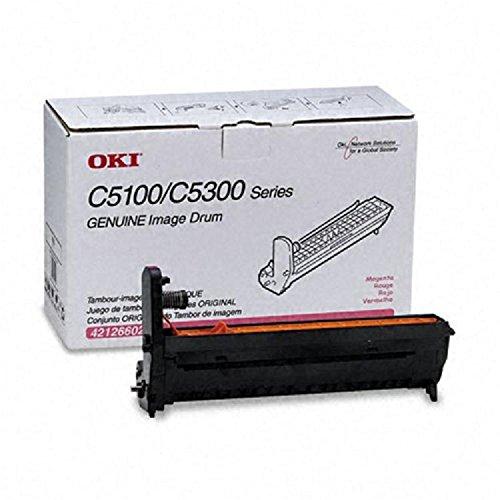Genuine OEM brand name Okidata C5100N/C5150N C5300N Magenta Drum Kit 42126602