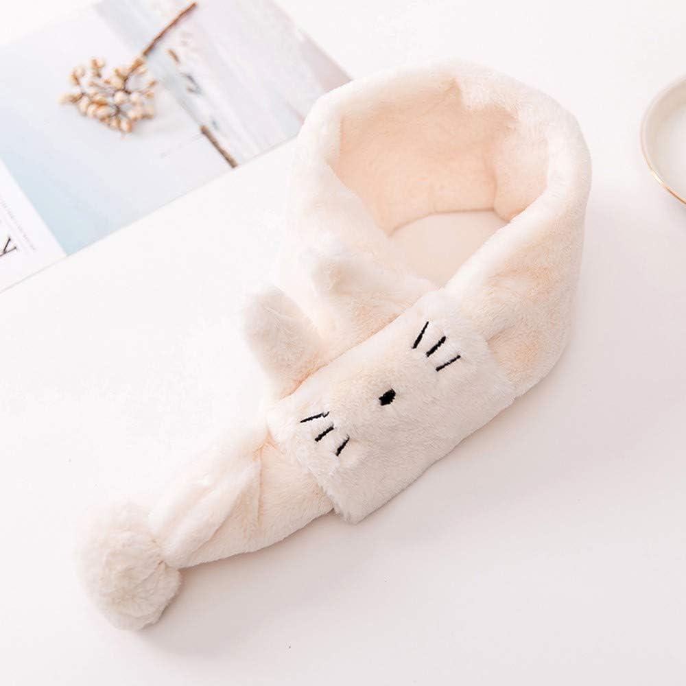LEXUPE Kinder Kinder Jungen und M/ädchen Samt Cartoon Katze warm halten Wraps Schal Schals