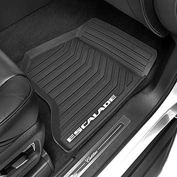 Amazon Com General Motors Gm 23452752 Floor Mats Front Premium All Weather Black With Cadillac Logo Genuine Gm Accessories Automotive