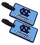 North Carolina Tar Heels - NCAA Soft Luggage Bag Tag - Set of 2