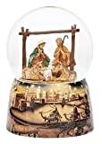 Fontanini Holy Family with Animals Italian Musical Glass 100mm Snow Globe 59086