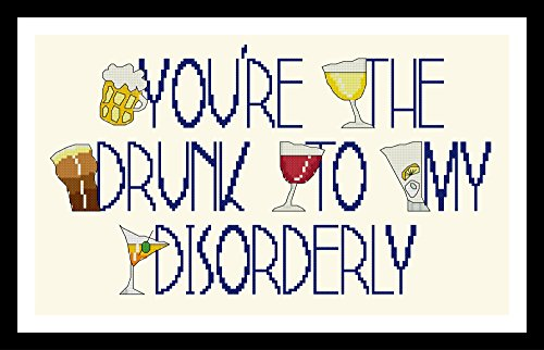 Counted Cross Stitch Kit. You're the drunk to my disorderly