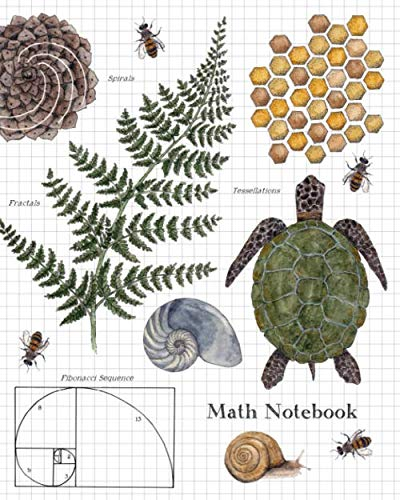 Math Notebook: 1/2 Inch Squares Graph Paper Composition Notebook for -
