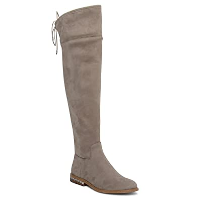 2fa1fd87f3d Michael Kors Jamie Over The Knee Suede Stretch Boot in Stone  Amazon.co.uk   Shoes   Bags