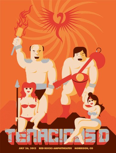 - Burlesque of North America Tenacious D screenprinted concert poster