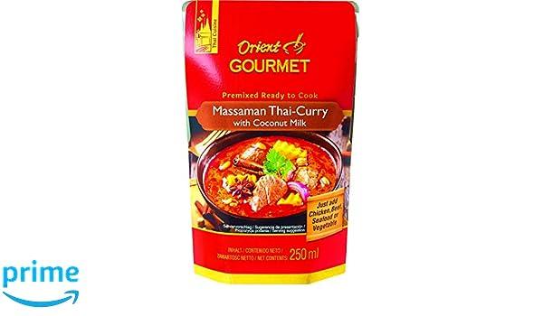 Orient Gourmet, Salsa de curry (Leche de coco) - 12 de 250 ml. (Total 3000 ml.): Amazon.es: Alimentación y bebidas