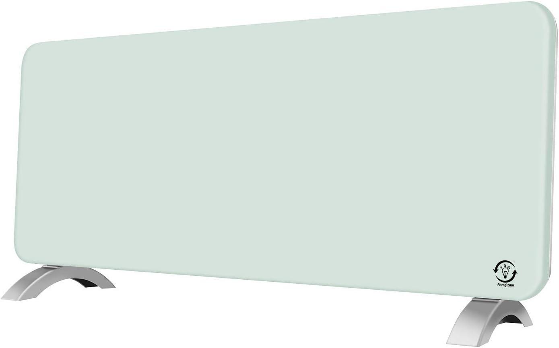 Schwarz dsnmm 100/% Energie sparen Elektrische Wandheizung Low Energy Fl/ächenheizk/örper Heizk/örper mit Thermostat Wandmontage oder Standger/ät Slimline Glasheizung 2,5 kW