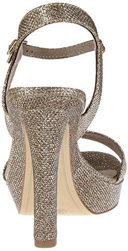 Tamaris 28387, Sandalias con Cuña para Mujer Plateado (Gold Glam 935)