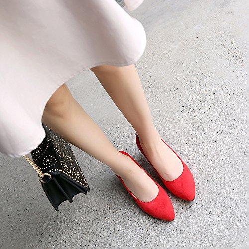 Chaussure Professionnelle Thirty Talon Eau Cm De Rouge Bon Talon Exercice Forte Bouche Seule five Petite Banlieue SSBY Tête 6 Femme UBgTSw0qq