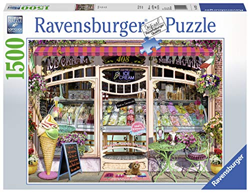 Ravensburger 16221 Ice Cream Shop 1500 Piece Puzzle for Adults, Every Piece is Unique, Softclick Technology Means Pieces Fit Together Perfectly -