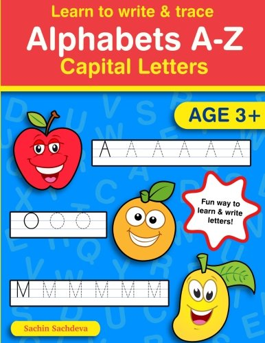 Learn to Write & Trace Alphabets A-Z: Capital Letters