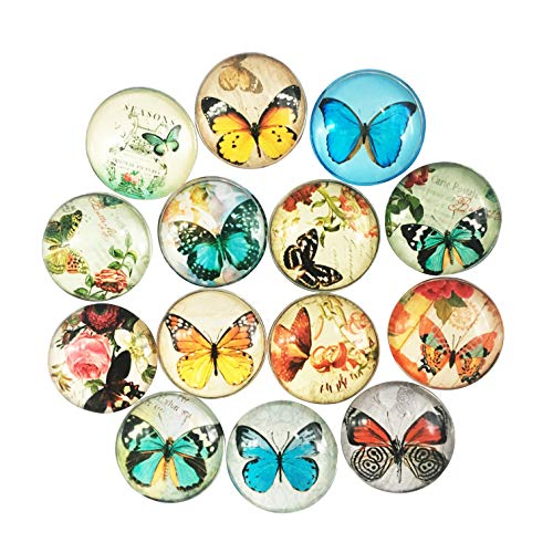 14 Pack Refrigerator Magnets Crystal Glass Fridge Magnets Cute Magnets for Holiday Gift Cosylove Fashionable Magnets Decorative Magnets Funny Magnets(Butterfly)
