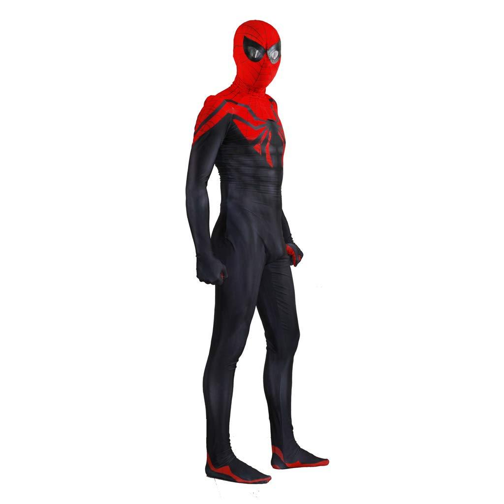GIFT ZHIZHUXIA 3D Stampa Finale Spiderman Cosplay Costume Elastico Collant all-Inclusive Siamese Halloween Film Costume Puntelli Costume Body Ufficiale Spiderman ( Colore   Nero , Dimensione   XXL )