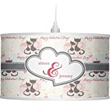 RNK Shops Cats in Love Drum Pendant Lamp Polyester (Personalized)