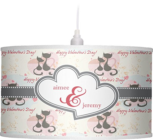 RNK Shops Cats in Love Drum Pendant Lamp Polyester (Personalized) by RNK Shops