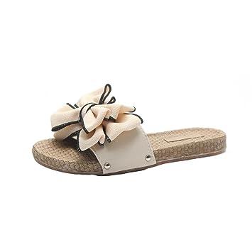 Damen Schuhe Sandalen Flip Flops Keilabsatz Strand Haus Wedge Rutschfeste Sommer