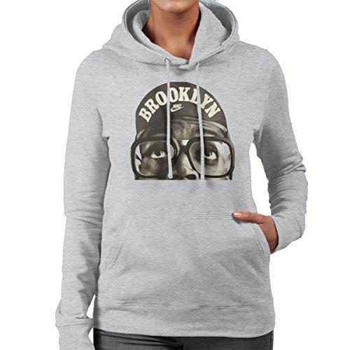 Celebrity Spike Lee Brooklyn Women's Hooded Sweatshirt Heather Grey