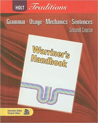 Warriner S Handbook Second Course Grammar