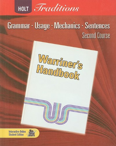 Warriner's Handbook: Second Course: Grammar, Usage, Mechanics, Sentences