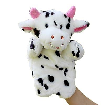 1pc del Dedo Títeres marioneta Animal del bebé del paño de la Mano para la Educación Historia Felpa Decir de Historia Juguetes Vaca marioneta de Mano: Juguetes y juegos