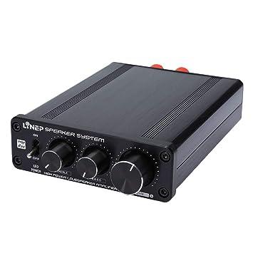 D DOLITY A928 Amplificador de Alta Fidelidad de Potencia de 136W, Interfaz de RCA Chapado
