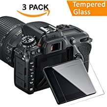 Nikon D7500 Screen Protector, 3 Packs Kimilar Waterproof [Clear Touch] 9H Tempered Glass Screen Protection for Nikon D7500 DSLR Camera