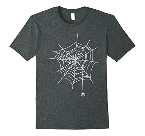 Funny Halloween Ideas For Men (Mens Spider Web Halloween Funny Gift Idea Cobweb Costume T Shirt XL Dark Heather)