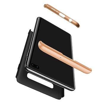 RINOJF Funda Compatible Samsung Galaxy S10 5G Carcasa[2 Vidrio Templado] 360° protección Caja Ultra Delgado Duro PC 3 en 1 Anti-Golpes Anti-Arañazos ...