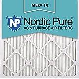 Nordic Pure 20x20x1 MERV 14 Pleated AC Furnace Air Filters, 20x20x1, 12 Piece