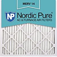 Nordic Pure 24x24x1M14-6 Pleated AC Furnace Air Filter, Box of 6
