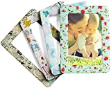 Merkapa Magnetic Photo Picture Frames and Refrigerator Magnets, Pocket Frame, Holds 4 x 6 Inches Photos, 4 Pack (Crystal, Classic Color)