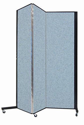 Screenflex Privacy Screen, 5.75' x 5.75', Vinyl Blue Tide by Screenflex