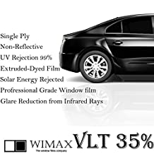 Mkbrother Wimax Smoke 35% VLT 20 in x 100 Ft (20 x 1200 Inch) Feet Uncut Roll Window Tint Film Auto Car Home