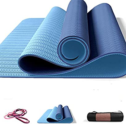 Amazon.com: UKIYES High-Density Green Yoga mat,Widened ...