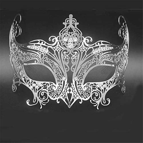 Silver Gold Scary Metal Filigree Laser Cut Skull Venetian Masquerade Mask Wedding Halloween Ball Costume Party Masks 21 ()