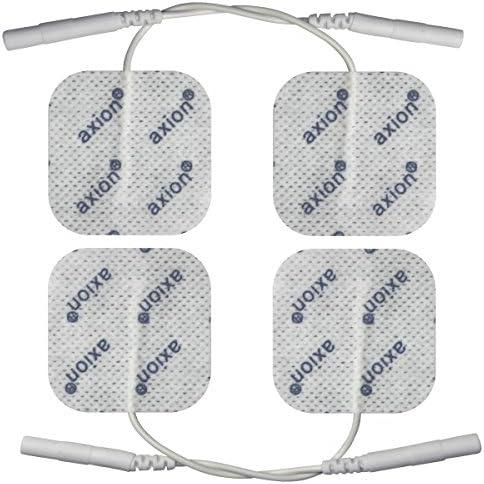4 Elektroden-Pads 40x40 mm - Universal-Elektroden für TENS & EMS - axion