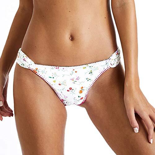 Banana Moon Avaya Palermo, Bikini Bottom Classic Pant, White, Size: 42 (Banana Moon Swimwear)