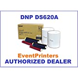 """DNP 4x6"""" Dye Sub Media for DS620A Printer, paper & ribbon (total of 800 prints). Comes with samples of our best selling photo folders! (dnp ds-620a)"""