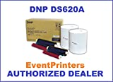 DNP 4x6'' Dye Sub Media for DS620A Printer, paper & ribbon (total of 800 prints per box). WITH FREE SAMPLES OF OUR BEST SELLING PHOTO FOLDERS (Eventprinters brand).