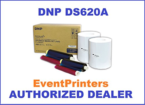 DNP 4x6'' Dye Sub Media for DS620A Printer, paper & ribbon (total of 800 prints per box). WITH FREE SAMPLES OF OUR BEST SELLING PHOTO FOLDERS (Eventprinters brand). by DNP and Eventprinters