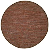 Brown Leather Matador 3′ Round Rug with!