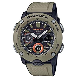 51pXhqCX2UL. SS300  - Men's Casio G-Shock Analog-Digital Carbon Core Guard Beige Resin Band Watch GA2000-5A